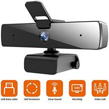 US. Webcam with Microphone and Privacy Cover, [Upgraded] QTNIUE FHD Webcam 108