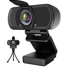 US. Webcam with Microphone, Hrayzan 1080P HD Webcam with Privacy Cover and Tri