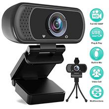 US. HD Webcam 1080P with Microphone, PC Laptop Desktop USB Webcams, Pro Stream