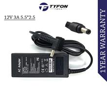 Compatible AC Power Adapter 12V 3A 5.5*2.5 Charger for HP ViewSonic Ac