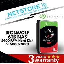 "SEAGATE IRONWOLF NAS 6TB 5400 RPM 3.5"" INTERNAL HARD DRIVE ST6000VN001"