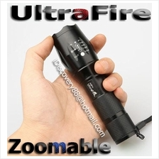 2x UltraFire Zoomable Cree T6 LED Zoom Torch FlashLight