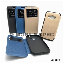SAMSUNG J1 ACE J110 J1 MINI J105 FLIP POUCH BAG S VIEW MERCURY CASE