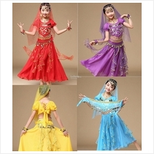 2018 children girls Indian dance bellydance wear 6pcs set school stage