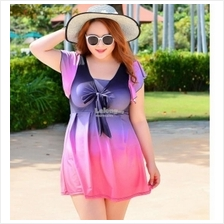 Plus size women lady swimsuit swimwear swimming dress up to 6XL 110kg