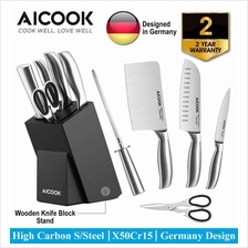 AICOOK KFH001 German High Carbon S.Steel X50Cr15 Premium..)