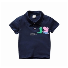 Peppa Pig George Boys polo tee t-shirt kids children 90cm-140cm
