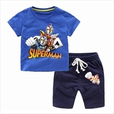 Ultraman tee t-shirt and short pants for kids children boys 90-140cm 6