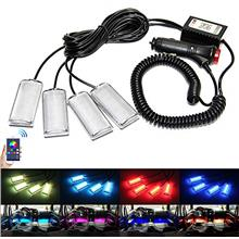 From USA RGB Car Led Interior Strip Lights 4pcs App Controller Rock Lights RGB