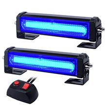 From USA WOWTOU Emergency Blue Grille Light Head, 16W Bright Linear LED Mini S