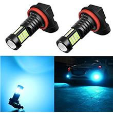 From USA Alla Lighting H8 H11 LED Bulbs Xtreme Super Bright 8000K Ice Blue 12V