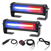 From USA AT-HAIHAN Emergency Blue Red Grille Light Head, 16W Bright Linear LED