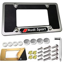 From USA PUQIN-AUTO License Plate Frame for Audi- 1 Pack Custom Audi Sport Emb
