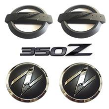 From USA New REPLACEMENT Metal 350Z Badge Kits Car Body Front Rear Fender Blac