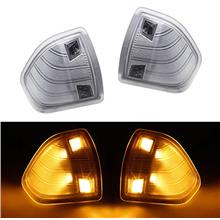 From USA HERCOO LED Side Mirror Turn Signal Light Left and Right Lamps Clear C