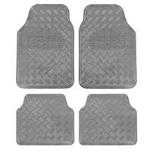 From USA BDK Universal Fit 4-Piece Set Metallic Design Car Floor Mat - Heavy D