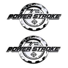 From USA 2 Pack 7.3L Power Stroke International Side Fender Emblems Badge Powe