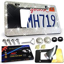 From USA Aootf License Plate Frame Bling –1PC Handmade Glass Diamond Car Lic
