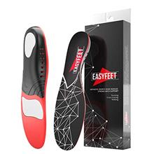 US. Plantar Fasciitis Arch Support Insoles for Men and Women Shoe Inserts - Or