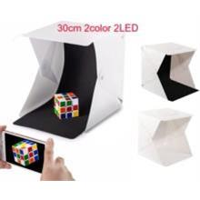 30CM 2color 2 LED Lighting Light Box Photo Studio Photography