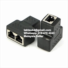 1 To 2 Ways LAN Ethernet Network Cable RJ45 Splitter for CCTV PC