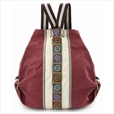 (FROM USA) Women Canvas Backpack Daypack Casual Shoulder Bag, Vintage Heavy-du