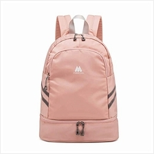 (FROM USA) Women Sports Backpack Gym Bag with Shoe Compartment Wet Pocket Trav