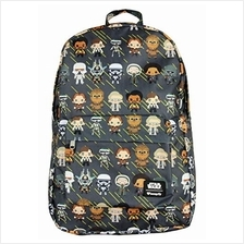 (FROM USA) Loungefly x Star Wars Backpack Han Solo Chibi Characters All Over P