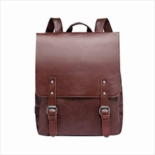 (FROM USA) Zebella Vintage Faux Leather Backpack for Women Mens Vegan Leather