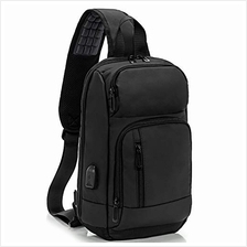 (FROM USA) KINGSLONG Waterproof Sling Backpack Bag for Men Women with USB Char