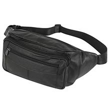 (FROM USA) ZZNICK Genuine Leather Fanny Pack/Waist Bag/Organizer with Adjustab