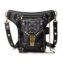 (FROM USA) Valentoria Steampunk Waist Bag Fanny Pack Thigh Holster Purse Pouch