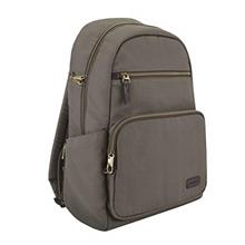(FROM USA) Travelon Anti-Theft Courier Slim Backpack, Stone Gray, One Size