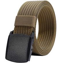 (FROM USA) Men's Nylon Belt, Military Tactical Belts Breathable Webbing Canvas