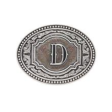 "(FROM USA) Montana Silversmiths Men's Initial ""D "" Two-Tone Attitude"