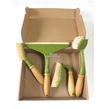 Bamboo Handheld Brush Set (4pcs/set)