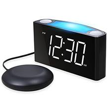 (FROM USA) Mesqool Loud Alarm Clock Bed Shaker, Powerful Vibrating for Heavy S