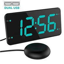 (FROM USA) Loud Alarm Clock with Bed Shaker, Vibrating Alarm Clock for Heavy S