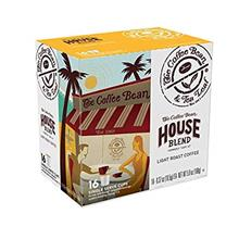 (FROM USA) Coffee Bean  & Tea Leaf House Blend Single Serve Kcups (16 Ct)