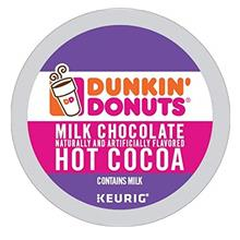 (FROM USA) Dunkin' Donuts Milk Chocolate Hot Cocoa Single Serve K-Cups for Keu