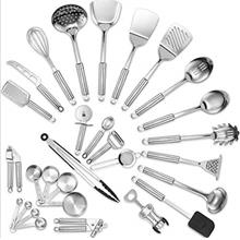 (FROM USA) Klee Deluxe 29-Piece Heat-Resistant Stainless Steel Kitchen Utensil