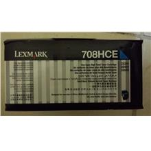 Lexmark Cartridge 708 Cyan (Genuine) 708HCE 3K CS310 CS410 CS510 708