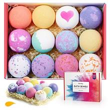 US. Homasy Bath Bombs, 12 Pcs Bath Bomb Gift Set with Natural Essential Oils,