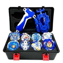 - Original Beyblade blue series 12 types (bay grip + launcher set + premium dr