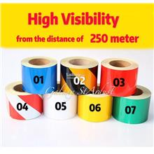 Warning Reflective Barrier Sticker Tape-Roll-Industrial Safety Hazard