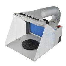 Airbrush extractor/spray booth with LED light and hose