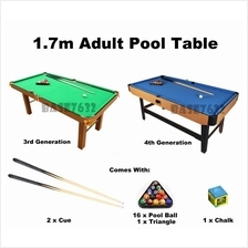 Upgraded 1.7m 170cm Snooker Billiard Pool Table Balls Cues 2137.1