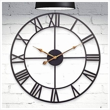 ..// HOME GURUS Decorative Modern Large Wall Clock Non Ticking (Metal)