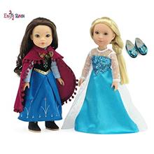 US. Emily Rose 14 Inch Doll Clothes | Princess Elsa and Anna Frozen Inspired O