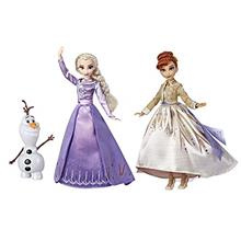 US. Disney Frozen Elsa, Anna,  & Olaf Deluxe Fashion Doll Set with Premium Dre